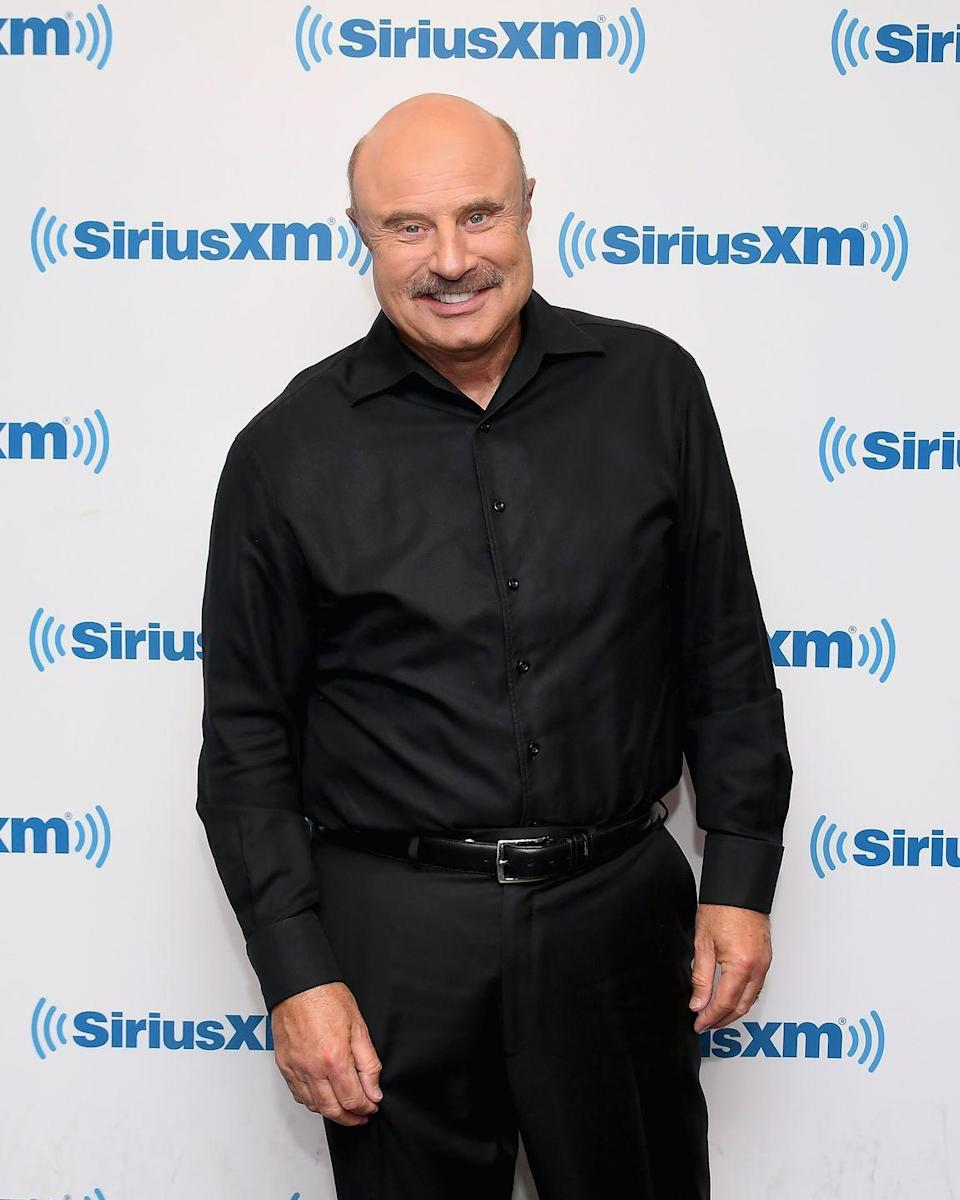 """<p>Dr. Phil isn't exactly who you'd think would be suiting up to take the field, but the talk show host attended the <a href=""""https://people.com/tv/dr-phil-hot-photo-college-football/"""" rel=""""nofollow noopener"""" target=""""_blank"""" data-ylk=""""slk:University of Tulsa on an athletic scholarship"""" class=""""link rapid-noclick-resp"""">University of Tulsa on an athletic scholarship</a>. He played on the school's football team as a middle linebacker. </p>"""