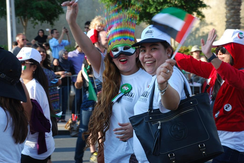 Hundred of Emiratis and expatriates headed to the parade held at Emaar Boulevard on Sunday, December 2. (Photo: Donna.M.Bee.Photography)