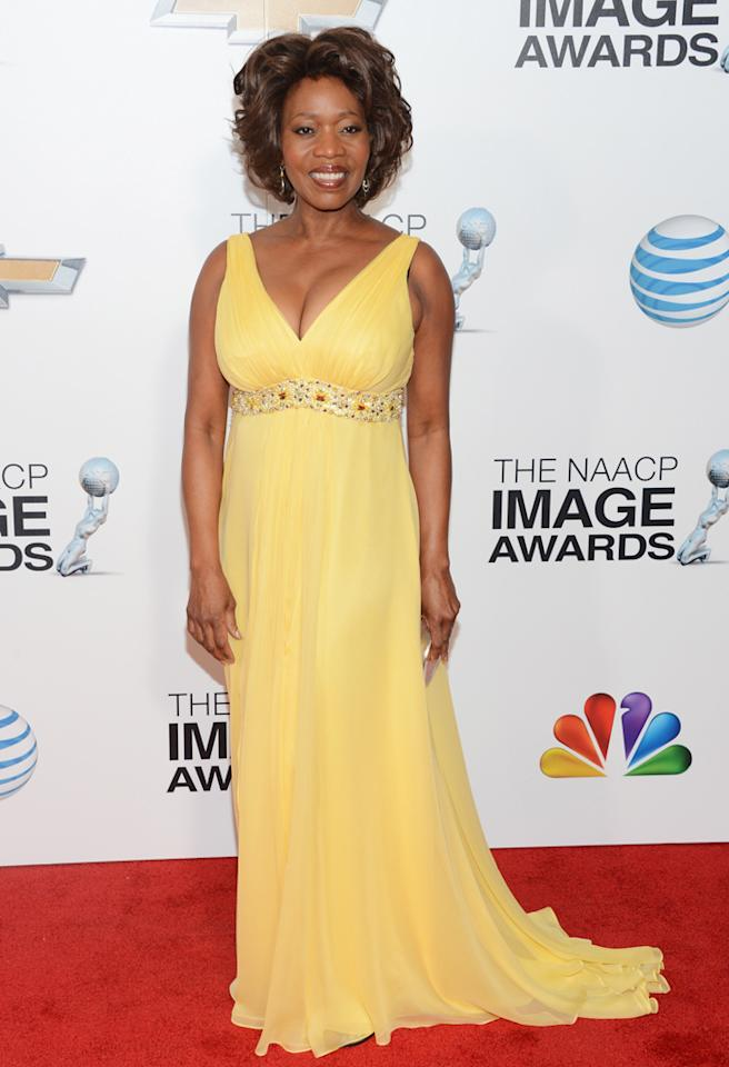 LOS ANGELES, CA - FEBRUARY 01: Actress Alfre Woodard arrives at the 44th NAACP Image Awards held at The Shrine Auditorium on February 1, 2013 in Los Angeles, California. (Photo by Jason Kempin/WireImage)
