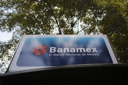 Advertising of Banamex Bank is seen in Mexico City