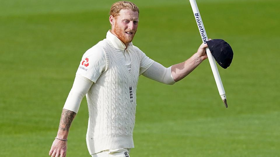 Ben Stokes, pictured here celebrating England's win over West Indies in the second Test.