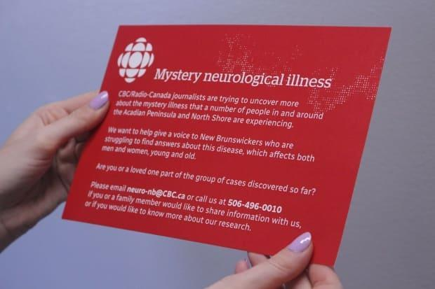 CBC News and Radio-Canada are distributing 50,000 postcards to the Acadian Peninsula and North Shore areas to learn more about a mystery neurological illness. (Karissa Donkin/CBC - image credit)