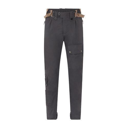 """<p><a class=""""link rapid-noclick-resp"""" href=""""https://www.npeal.com/products/007-combat-trousers-grey?variant=39663983132836"""" rel=""""nofollow noopener"""" target=""""_blank"""" data-ylk=""""slk:SHOP"""">SHOP</a></p><p>Worn with the Danner boots in No Time To Die's finale, N. Peal's combat trousers were designed in partnership with the film's costume designer, Suttirat Larlarb. Cut from hard-wearing cotton, then laden with pockets, but cut in such a way as to allow maximum freedom of movement. </p><p><a href=""""https://www.npeal.com/products/007-combat-trousers-grey?variant=39663983132836"""" rel=""""nofollow noopener"""" target=""""_blank"""" data-ylk=""""slk:npeal.com"""" class=""""link rapid-noclick-resp"""">npeal.com</a>, £245</p>"""
