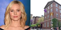 """<p><strong>New York University</strong></p><p>Bell studied musical theater at New York University's Tisch School of the Arts and made her Broadway debut while still a student in a musical version of <em>The Adventures of Tom Sawyer</em><em>.</em> <br></p><p>Bell, who is an advocate on the importance of openness and acceptance when suffering from depression, first started feeling unlike herself while in college.</p><p>""""I was at New York University, I was paying my bills on time, I had friends and ambition—but for some reason, there was something intangible dragging me down,"""" <a href=""""http://motto.time.com/4352130/kristen-bell-frozen-depression-anxiety/"""" rel=""""nofollow noopener"""" target=""""_blank"""" data-ylk=""""slk:Bell said"""" class=""""link rapid-noclick-resp"""">Bell said</a>. """"Luckily, thanks to my mom, I knew that help was out there—and to seek it without shame.""""<br></p>"""