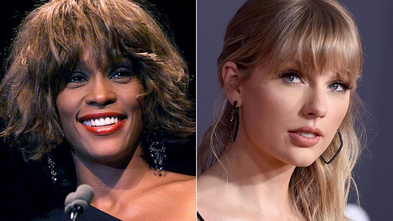 Taylor Swift surpassed Whitney Houston to set this record