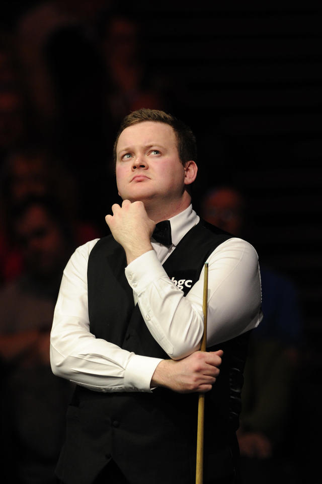 Shaun Murphy of England is pictured during his match against John Higgins of Scotland during the semi-final match in the BGC Masters snooker tournament at Alexandra Palace in north London on January 21, 2012. AFP PHOTO / CARL COURT (Photo credit should read CARL COURT/AFP/Getty Images)