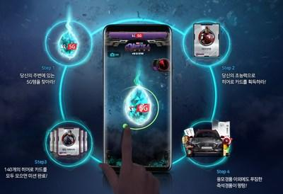 Directions for playing KT's Catch Heroes 5G augmented reality game, a five-week promotional event that launched on April 5.