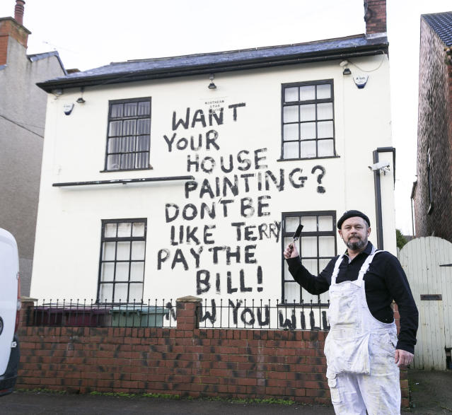 Painter and decorator, Dean Reeves (pictured) claims builder Terry Turner paid him just £650 of the £1,150 agreed price for work on the house - but refused to pay the rest until Dean carried out additional work on the building (SWNS)