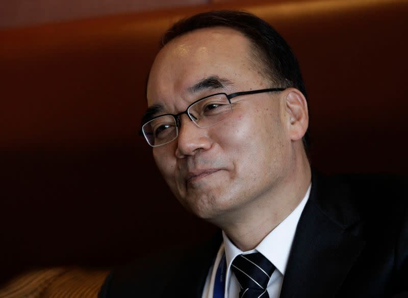 FILE PHOTO:  South Korea's Minister of Strategy and Finance Bahk speaks during interview at a hotel in Mexico City