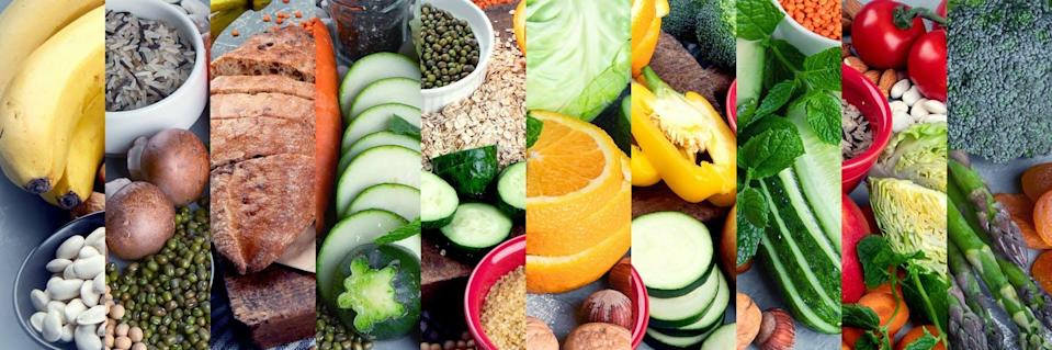 """<span class=""""attribution""""><a class=""""link rapid-noclick-resp"""" href=""""https://www.shutterstock.com/es/image-photo/collage-foods-high-carbohydrates-vegan-dietary-1945231342"""" rel=""""nofollow noopener"""" target=""""_blank"""" data-ylk=""""slk:Shutterstock / Tatjana Baibakova"""">Shutterstock / Tatjana Baibakova</a></span>"""