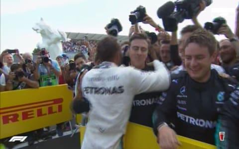 The race winner, Lewis Hamilton - Credit: SKY SPORTS F1