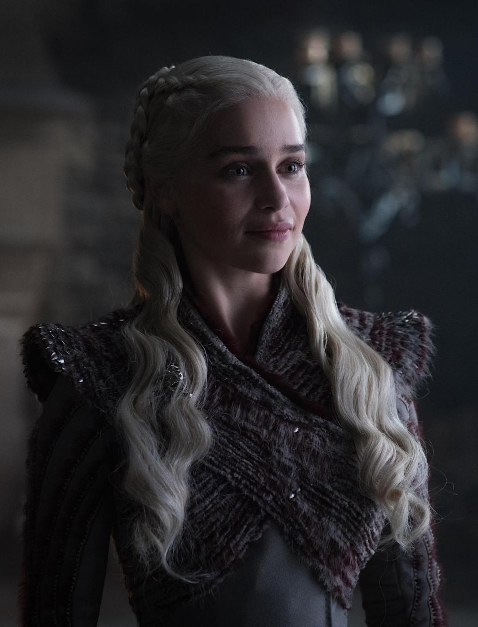 "<p>Could it be the promise of new love with Jon that has our Mother of Dragons cracking a rare smile? Just wait until she learns that her bedmate is also her nephew. Unless this photo was taken seconds after Tyrion broke the news, that's her ""No waaay"" face. </p>"