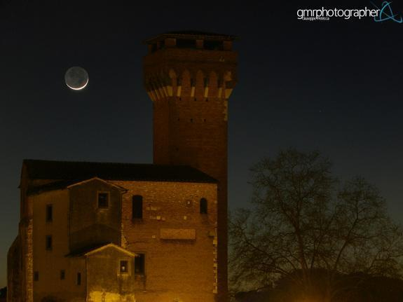 Giuseppe Petricca sent Space.com this image of the moon over a citadel near the Arno River, in Pisa, Italy on March 3, 2014.