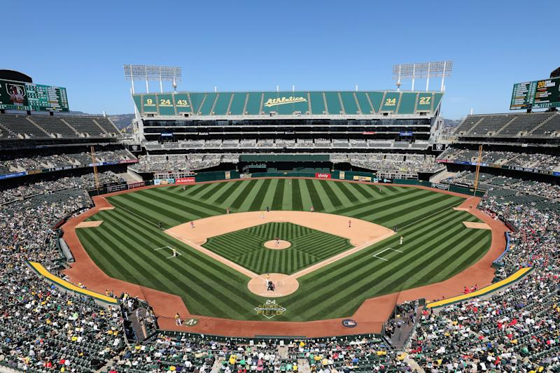 The Oakland A's are giving away every ticket to the April 17 game to celebrate their 50th anniversary in Oakland. (Getty Images)