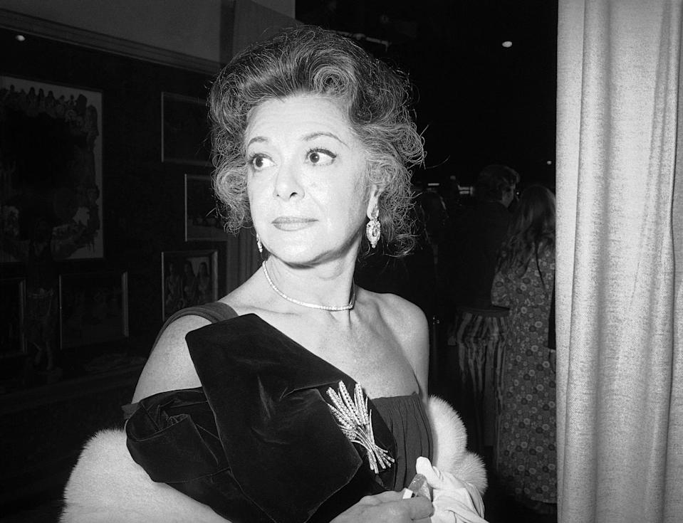 """FILE - This Nov. 5, 1971 file photo shows actress Ann Rutherford in New York. Rutherford, who played Scarlett O'Hara's sister Carreen in the 1939 movie classic """"Gone With the Wind,"""" died at her home in Beverly Hills, Calif. on Monday, June 11, 2012. She was 94. (AP Photo/HF)"""