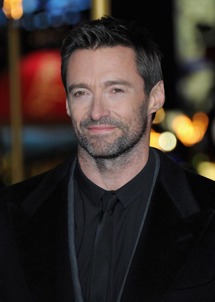"LONDON, ENGLAND - DECEMBER 05:  Actor Hugh Jackman attends the ""Les Miserables"" World Premiere at the Odeon Leicester Square on December 5, 2012 in London, England.  (Photo by Stuart Wilson/Getty Images)"