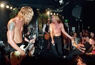 <p>Duff Mckagan, Steve Jones and Iggy Pop performing with Neurotic Outsiders on September 26, 1995.</p>