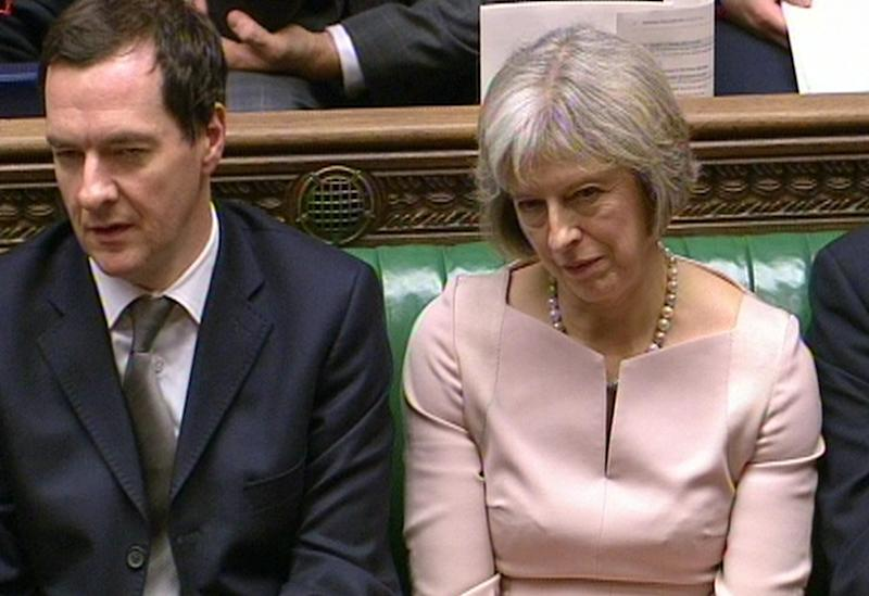 George Osborne and Theresa May, when they were both in government. (PA Archive/PA Images)