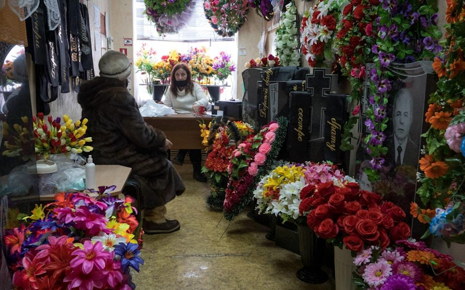 Yulia Balandina, the 34-year-old manager of a funeral parlour in Gorokhovets