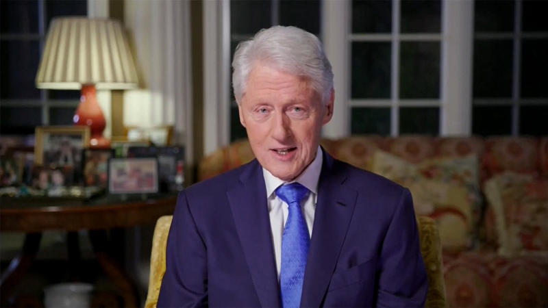 Former Pres. Bill Clinton speaks during the virtual Democratic National Convention on August 18, 2020. (via Reuters TV)