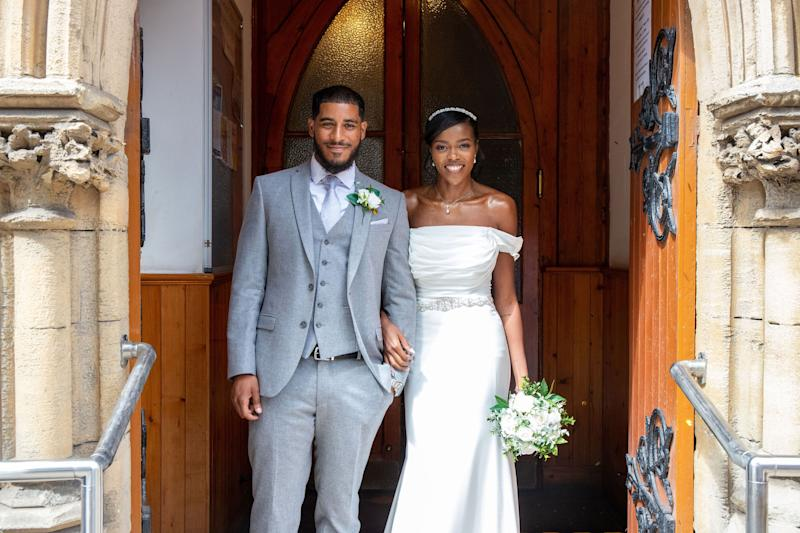 La Braya Richmond, 25, and Daniel Richmond, 27, from London getting married at their local church (Photo: Anthony Achille)