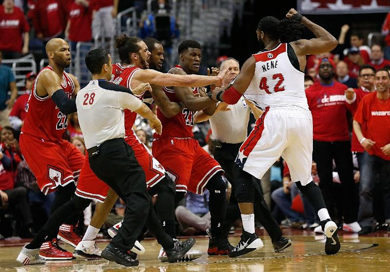 Wizards lead Bulls 2-1; won't have Nene for Game 4