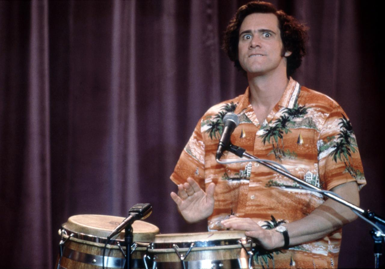 "Jim Carrey, making a tape. Despite pet-detective goofball roles, Carrey was building up credibility for his work in ""The Truman Show"" and ""Liar Liar."" When the project to play the late comic actor Andy Kaufman surfaced, he went against the advice of his agents and sent in an audition tape for the lead in ""Man on the Moon"" (1991) and won over doubters like Kaufman's friend and movie producer Bob Zmuda. The eerie similitude grew during filming: ""He started exhibiting Kaufman-esque behavior that none of us had told him about, which freaked us out,"" Zmuda said at a Q&A. ""It really freaked out [Kaufman's girlfriend] Lynn."""