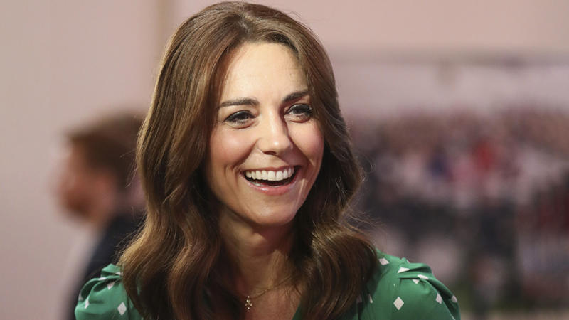 Catherine, Duchess of Cambridge has traded her bouncy locks for something more modern and sleek pictured in Galway Ireland.