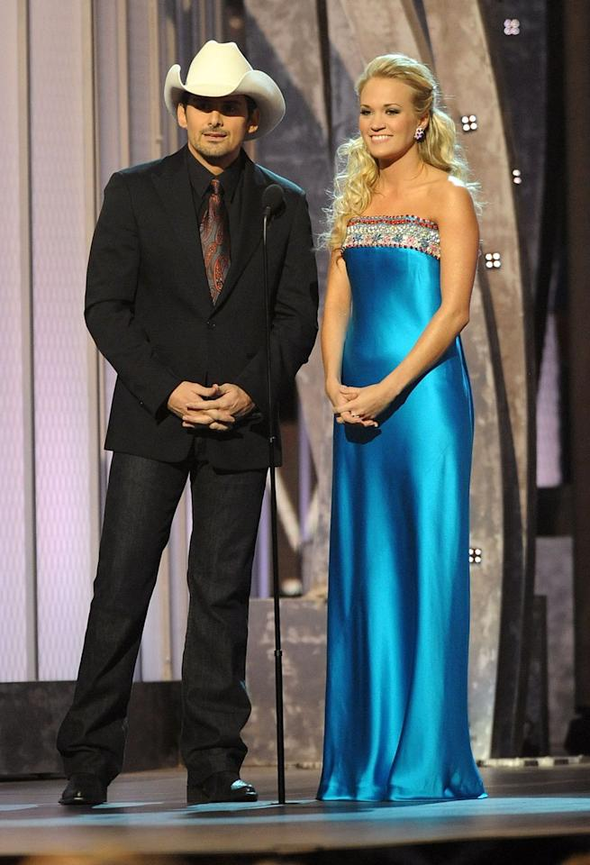 """<p>Since day one, Brad and Carrie have been deeply involved in the writing of their <a rel=""""nofollow"""" href=""""https://cmaawards.com/"""">CMA Awards</a> skits and parodies. As their professional relationship has grown over the years, they have learned which stars can laugh at themselves. For example, Blake Shelton's usually a good sport.</p>"""