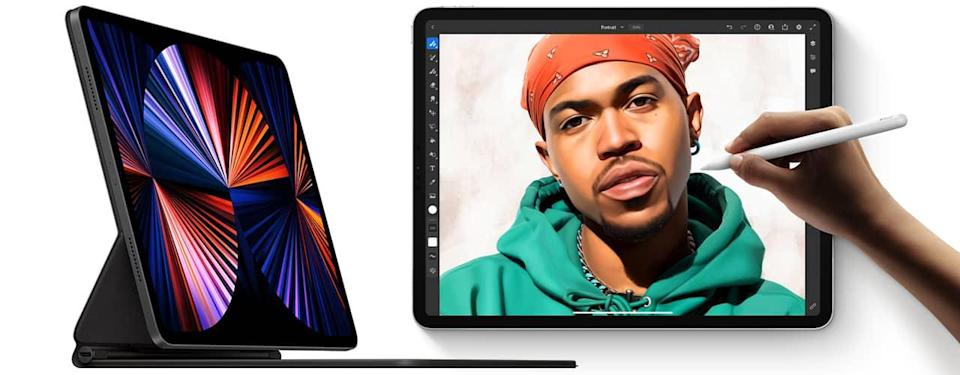 apple ipad pro 2021 refresh drawing on a white background