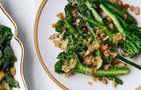 "You will fight your own relatives for the bits of cheesy goodness stuck to the bottom of the pan. <a href=""https://www.bonappetit.com/recipe/broccolini-cheddar-gratin-with-rye-breadcrumbs?mbid=synd_yahoo_rss"" rel=""nofollow noopener"" target=""_blank"" data-ylk=""slk:See recipe."" class=""link rapid-noclick-resp"">See recipe.</a>"