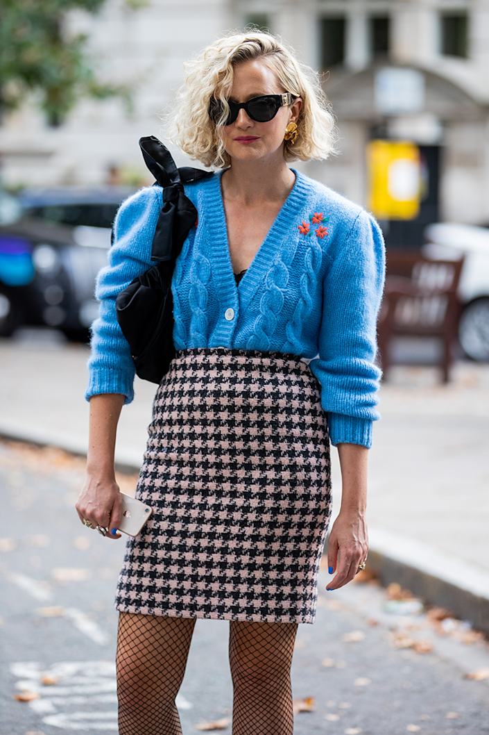 <p>Cosy yet smart - here's a fab way to style your cardi for a trip into town. </p>