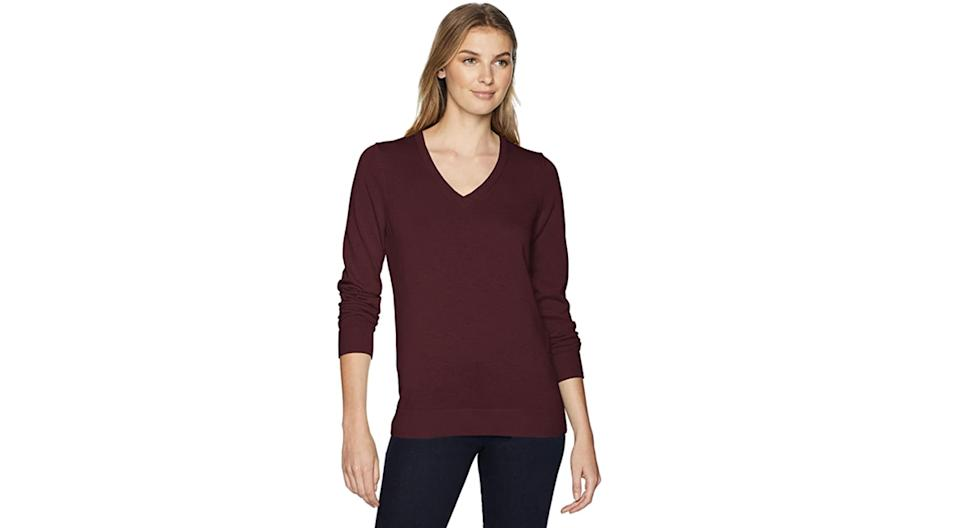 Elegant, longish, and not too low in the v-neck. (Photo: Amazon)