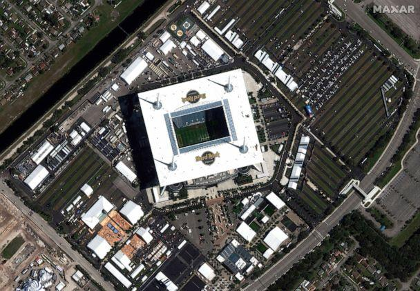 PHOTO: In this Jan. 26, 2020 an overview of Hard Rock Stadium is seen prior to the Super Bowl LIV game on Feb. 2, 2020, in Miami Gardens, Fla. (Satellite Image 2020 Maxar Technologies via Reuters)