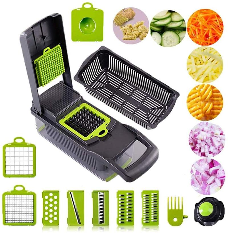 This ultra-sharp vegetable chopper will shorten your cooking prep time. (Image via Amazon)