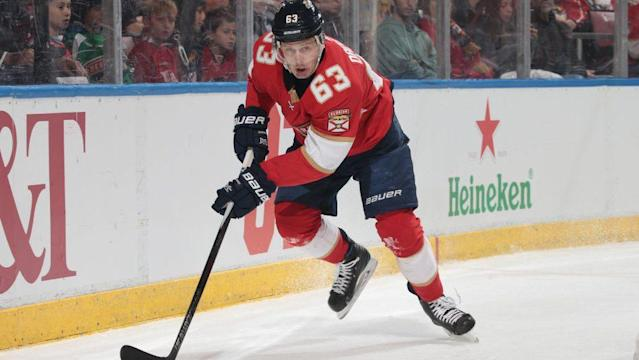 After spending five seasons in the KHL Evgenii Dadonov returned to the NHL in 2017-18 and has made a huge impact. (NBC)