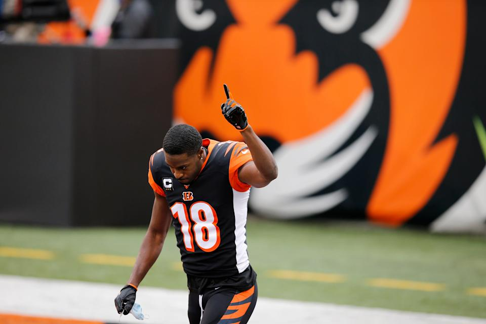 Bengals WR A.J. Green acknowledges Cincinnati fans it would turned out to be his final game with the team Jan. 3.