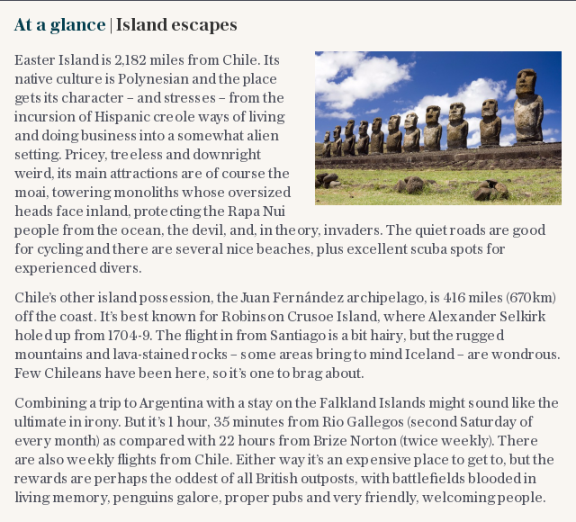 At a glance | Island escapes