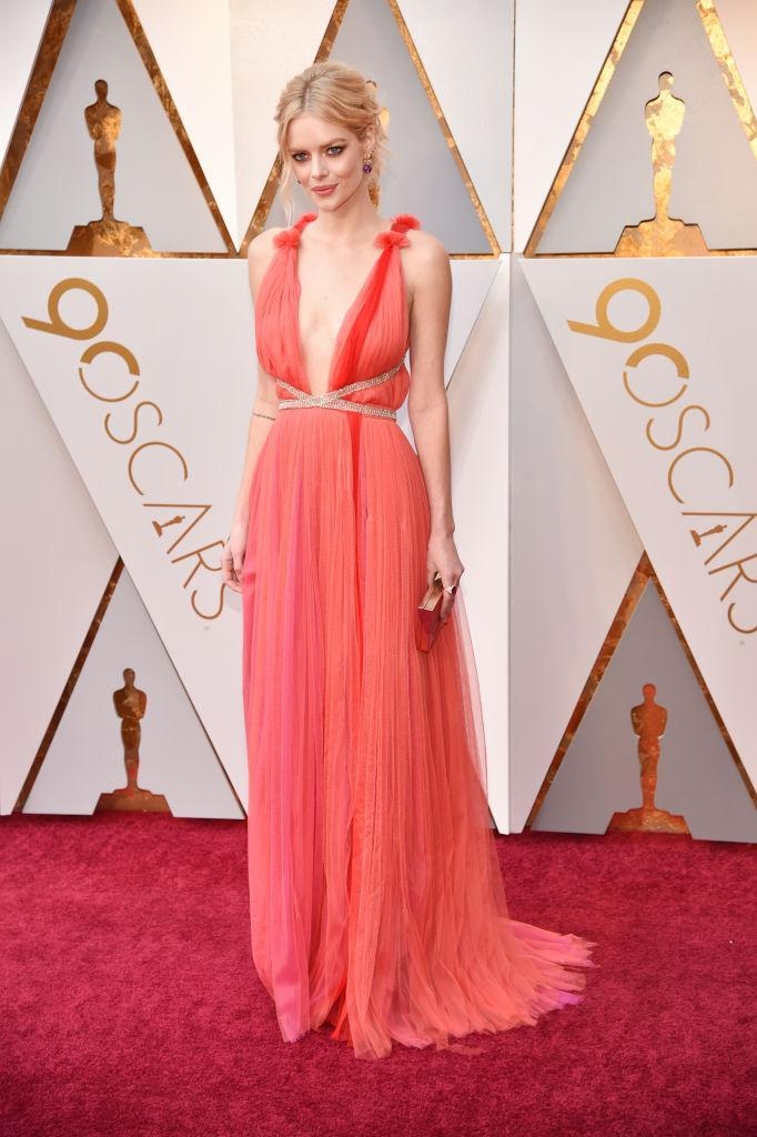 <p>Samara Weaving attends the 90th Academy Awards in Hollywood, Calif., March 4, 2018. (Photo: Getty Images) </p>