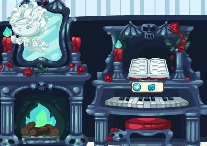 Spooky Ghost Fireplace and Spooky Ghost Piano
