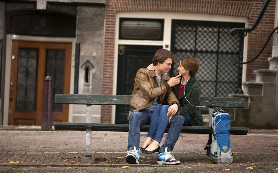 Ansel Elgort and Shailene Woodley in The Fault in Our Stars (2014) - James Bridges/AP