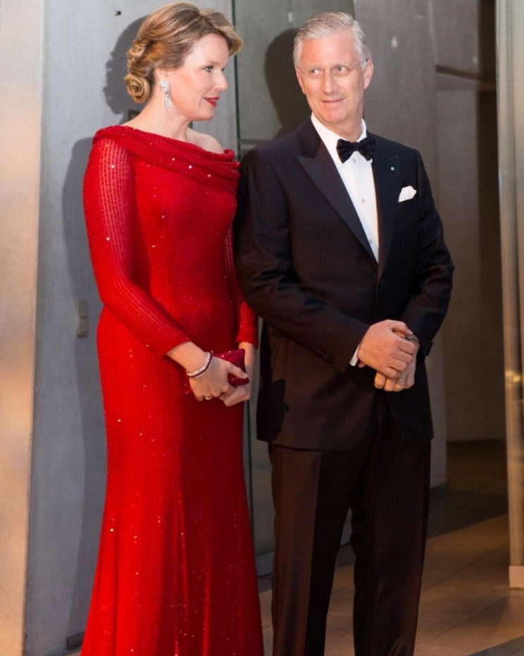 <i>The First Lady's love of red has influenced many royal women [Photo: Instagram/queen.mathilde]</i>