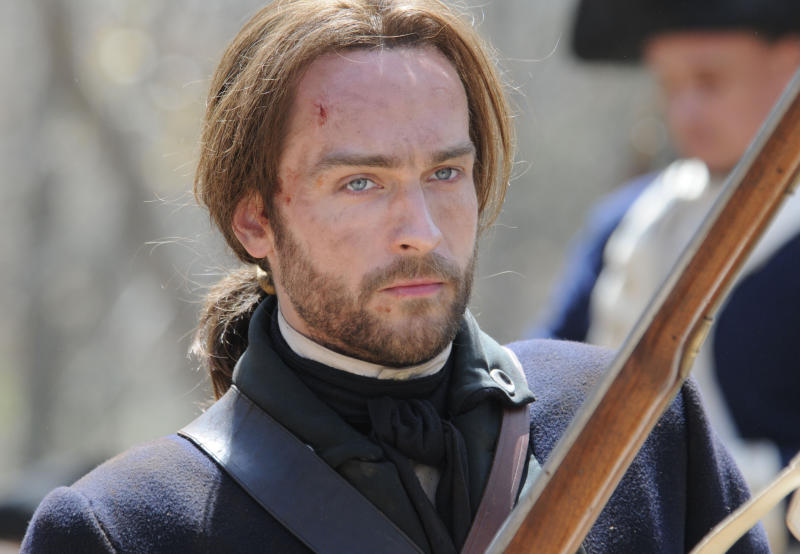 """This publicity image released by Fox shows Tom Mison in a scene from """"Sleepy Hollow,"""" premiering Monday, Sept. 16 at 9 p.m. EST. (AP Photo/Fox, Brownie Harris)"""