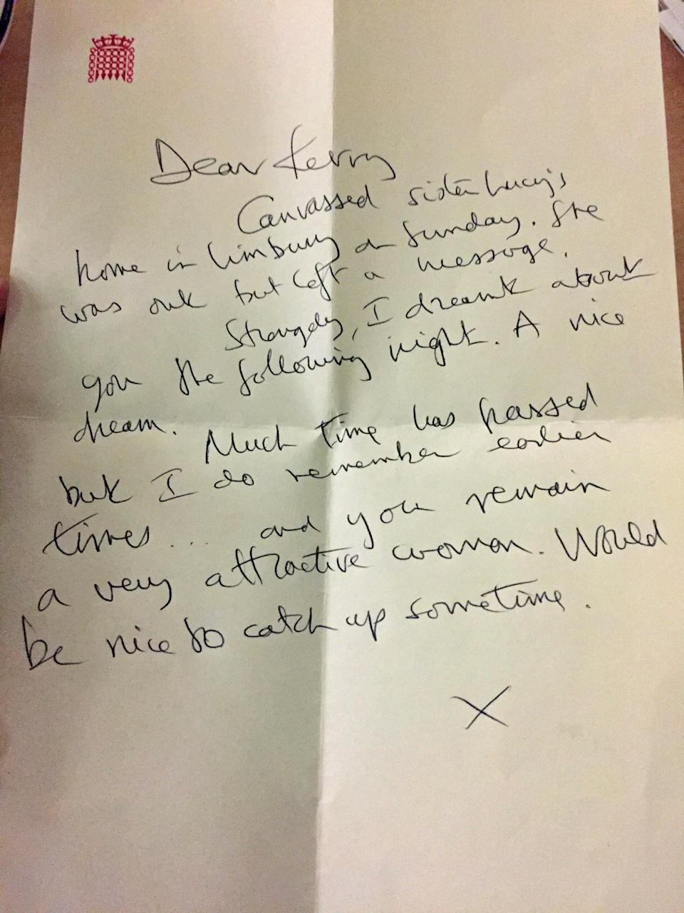<em>Letters – Labour's Kerry McCarthy revealed letters from Luton North MP Kelvin Hopkins commenting on her appearance</em>