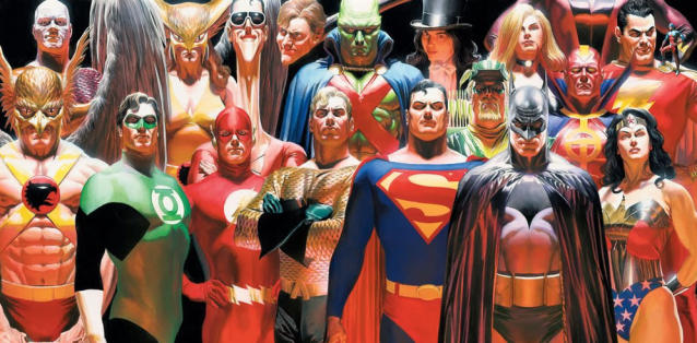 Alex Ross's Justice League from <em>Justice.</em> (Image: DC Comics/Alex Ross)