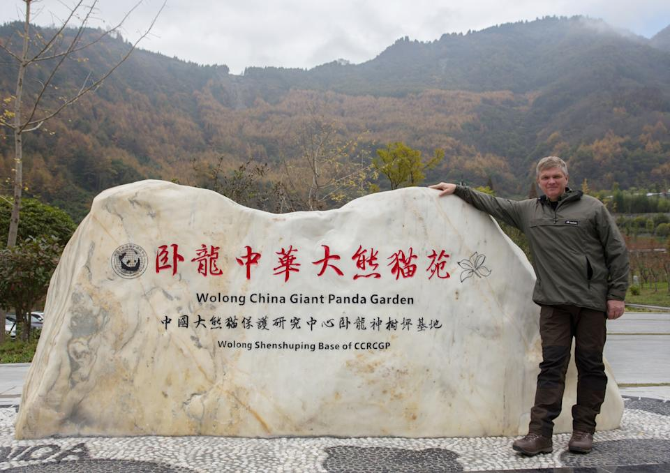 Ray Mears at China's Giant Panda Conservation and Research Centre. (ITV/Tin Can Island)