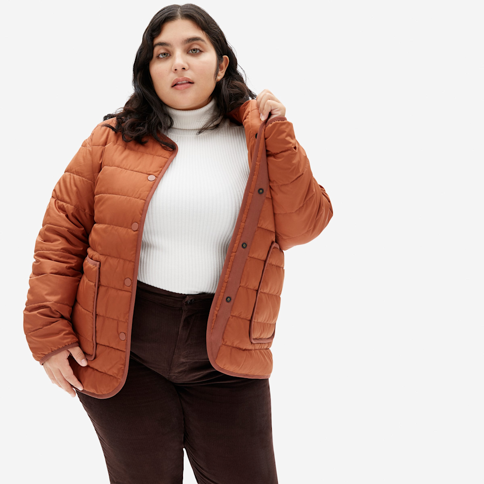 "<br><br><strong>Everlane</strong> The ReNew Channeled Liner, $, available at <a href=""https://go.skimresources.com/?id=30283X879131&url=https%3A%2F%2Fwww.everlane.com%2Fproducts%2Fwomens-renew-channeled-liner-dark-spice"" rel=""nofollow noopener"" target=""_blank"" data-ylk=""slk:Everlane"" class=""link rapid-noclick-resp"">Everlane</a>"