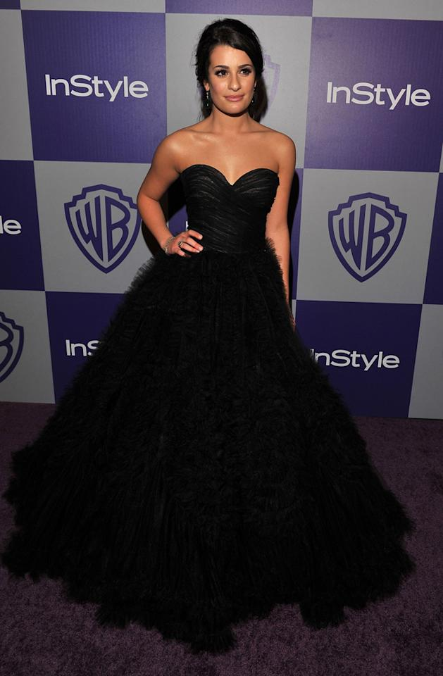 Lea Michele attends the InStyle and Warner Bros. 67th Annual Golden Globes post party held at the Oasis Courtyard at The Beverly Hilton Hotel on January 17, 2010 in Beverly Hills, California.