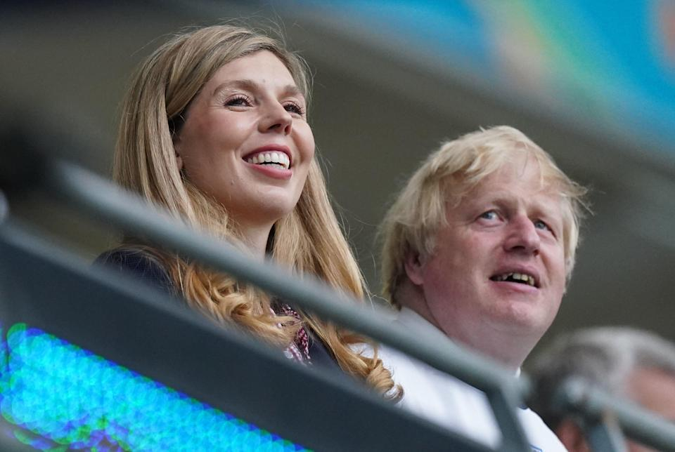 Boris and Carrie are opting for a staycation (PA)