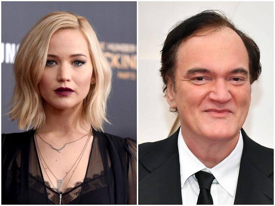 Jennifer Lawrence and Quentin Tarantino (ind)